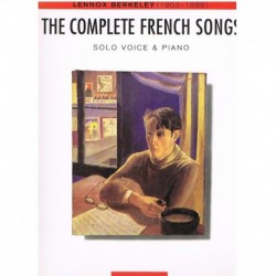 Berkeley, Le The Complete French Songs. Voz/Piano
