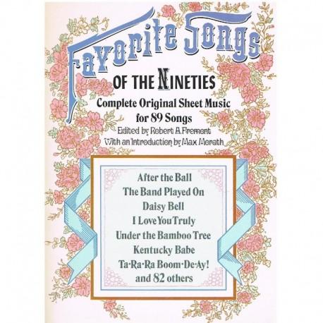 Varios. Favorite Songs of The Nineties (Voz/Piano). Dover