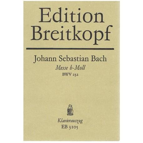 Bach, J.S. Misa en Si menor BWV232 (Solistas/Coro/Piano). Breitkopf