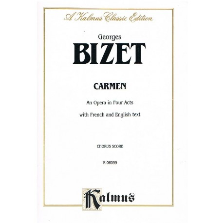 Bizet, Georges. Carmen (Francés/Inglés). Voz/Piano