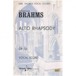 Brahms. Rapsodia Op.53. Voz/Piano