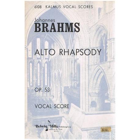 Brahms, Johannes. Alto Rhapsody Op.53 (Voz/Piano). Kalmus