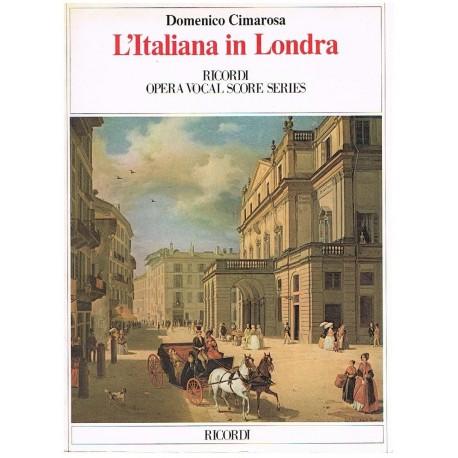 Cimarosa, Domenico. La Italiana en Londres (Voz/Piano). Ricordi