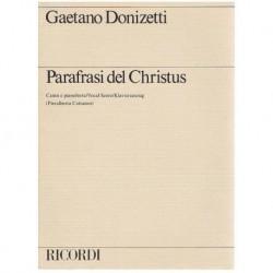 Donizetti, Gaetano. Parafrasi del Christus (Voz/Piano)