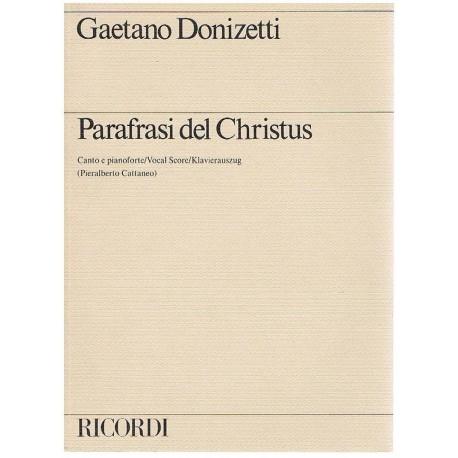 Donizetti, Gaetano. Parafrasi del Christus (Voz/Piano). Ricordi