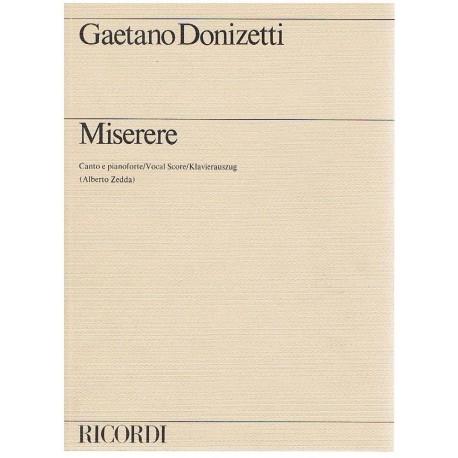 Donizetti, Gaetano. Miserere (Voz/Piano). Ricordi