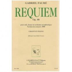 Fauré, Gabri Requiem Op.48. Voz/Piano