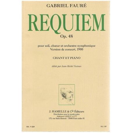 Fauré, Gabriel. Requiem Op.48 (Voces/Piano). Hamelle