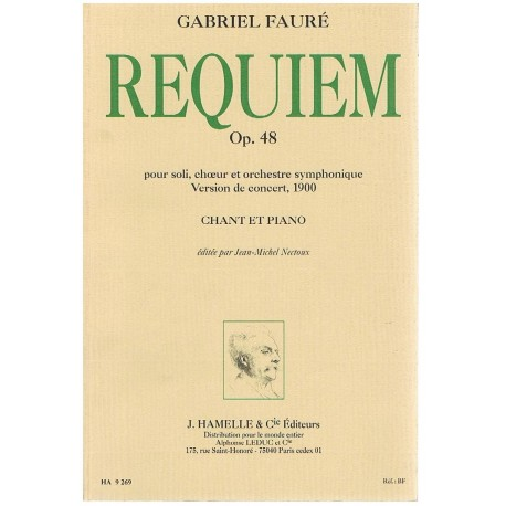 Fauré, Gabriel. Requiem Op.48 (Voces/Piano)