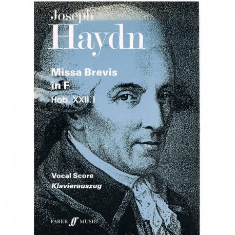 Haydn, Joseph. Missa Brevis en Fa Mayor (Voz/Piano). Faber Music