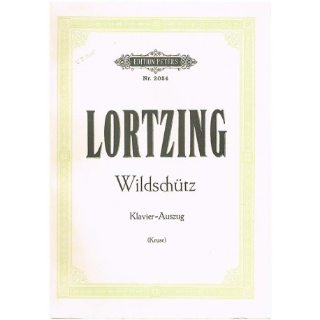 Lortzing. Wildschutz (Voz/Piano). Peters