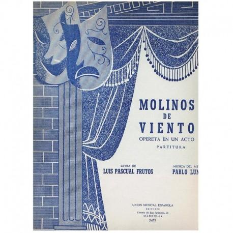 Luna, Pablo. Molinos de Viento (Voz/Piano). UME