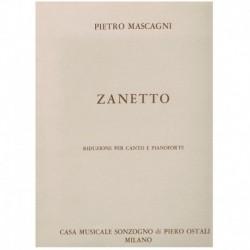 Mascagni, Pietro. Zanetto...