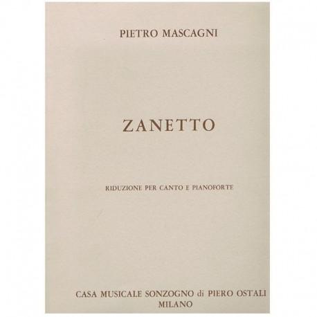 Mascagni, Pietro. Zanetto (Voz/Piano). Sonzogno
