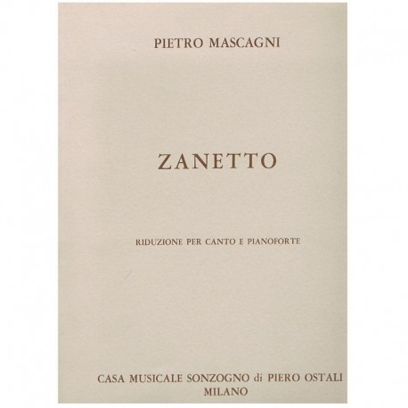 Mascagni, Pietro. Zanetto (Voz/Piano)