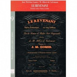 Melchor Gomis/De Calvimont. Le Revenant (Voz/Piano)