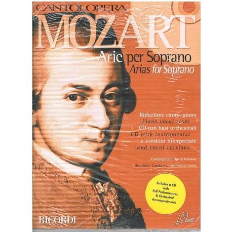 Mozart. Cantolopera. Arias para Soprano (Voz+CD Base Orquestal). Ricordi