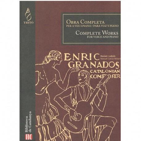 Granados, Enrique. Obra Completa (Voz/Piano). Tritó