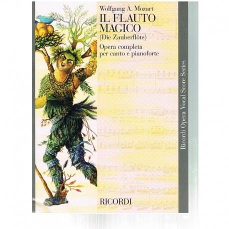 Mozart. La Flauta Mágica. Inglés/Alemán (Voz/Piano). Ricordi