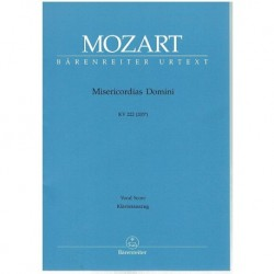 Misericordias Domini KV222. Voz/Piano