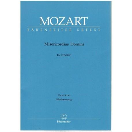 Mozart. Misericordias Domini KV 222 (Coro/Piano). Barenreiter