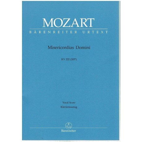 Mozart. Misericordias Domini KV 222 (Voz/Piano)