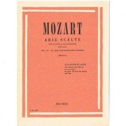Mozart. Arias Selectas Vol.4. 22 Arias para Baritono y Bajo (Voz/Piano)