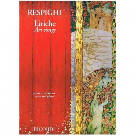 Respighi, Ottorino. Liriche Art Songs (Voz/Piano). Ricordi