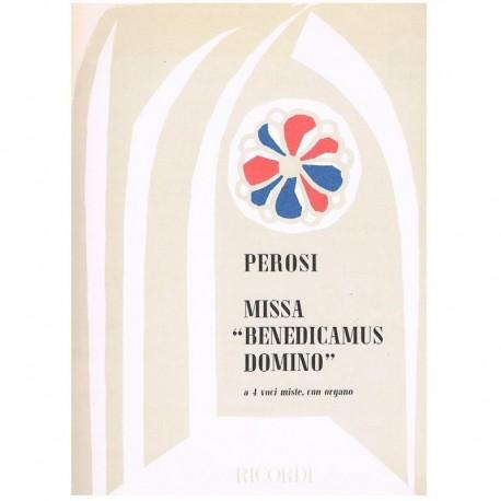 Perosi.  Misa Benedicamus Domino (4 Voces Mixtas/Organo). Ricordi