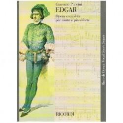 Puccini, Giacomo. Edgar. Nueva Edición (Voz/Piano)