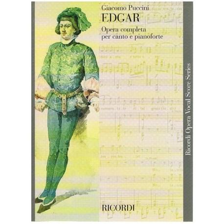 Puccini, Giacomo. Edgar. Nueva Edición (Voz/Piano). Ricordi
