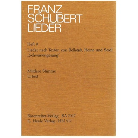 Schubert, Franz. Lieders Vol.9 (Voz Media/Piano)