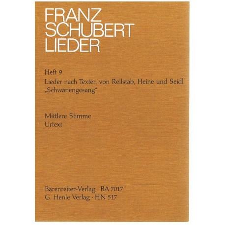 Schubert, Franz. Lieders Vol.9 (Voz Media/Piano). Barenreiter