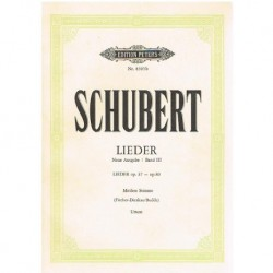 Schubert, Franz. Lieders Vol.3 Op.37/80 (Voz Media/Piano)