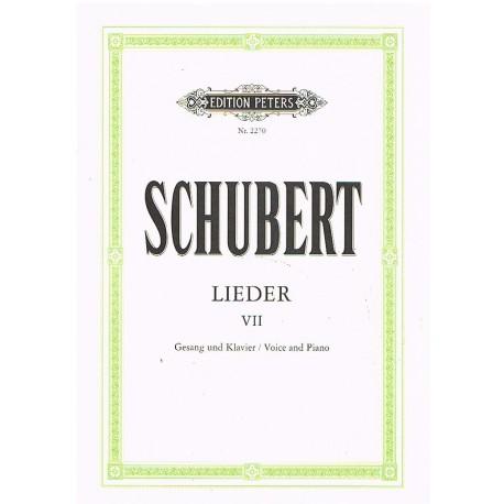 Schubert, Franz. Lieders Vol.7 (Voz/Piano). Peters