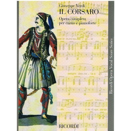 Verdi, Giuseppe. El Corsario (Voz/Piano). Ricordi