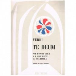 Verdi, Giuseppe. Te Deum (4 Voces Mixtas/Piano)