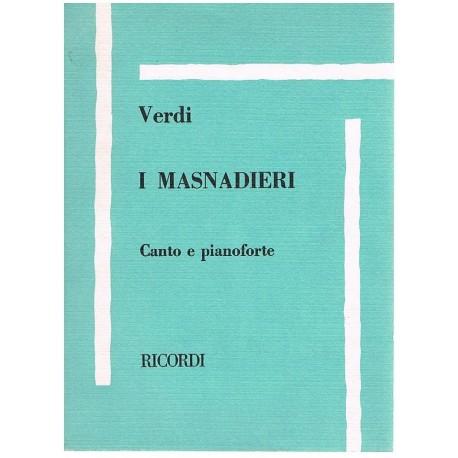 Verdi, Giuseppe. I Masnadieri (Voz/Piano). Ricordi