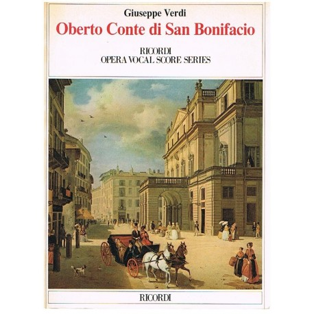 Verdi, Giuseppe. Oberto Conte di San Bonifacio (Voz/Piano). Ricordi