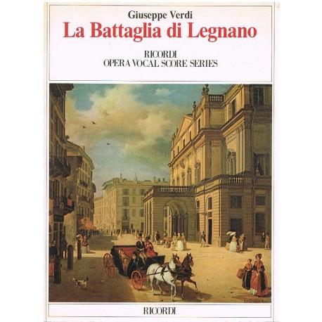 Verdi, Giuseppe. La Battaglia di Legnano (Voz/Piano). Ricordi