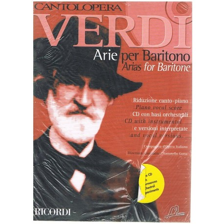Verdi, Giuseppe. Cantolópera. Arias para Barítono +CD. Ricordi