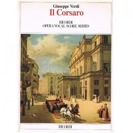 Verdi, Giuseppe. IL Corsaro (Voz/Piano). Ricordi