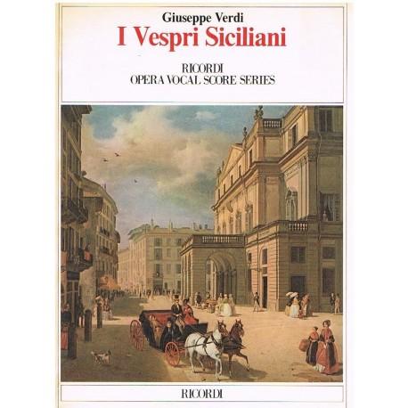 Verdi, Giuseppe. I Vespri Siciliani (Voz/Piano). Ricordi