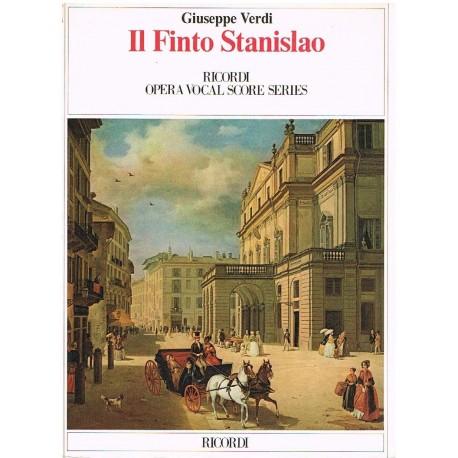 Verdi, Giuseppe. IL Finto Stanislao (Voz/Piano). Ricordi