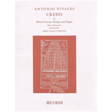 Vivaldi, Antonio. Credo. Revisión A.Casella (Voces Mixtas/Piano). Ricordi