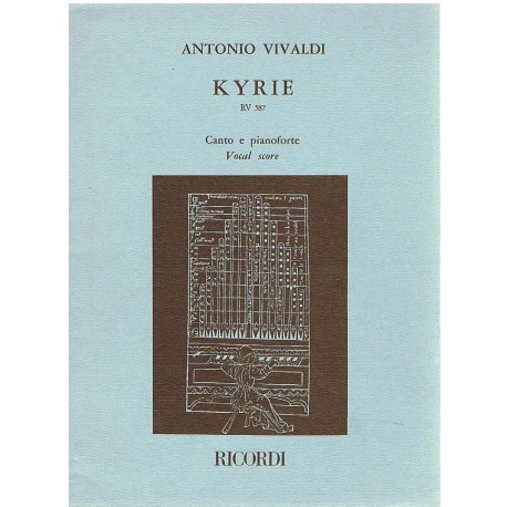 Vivaldi, Antonio. Kyrie RV 587 (Voz/Piano). Ricordi