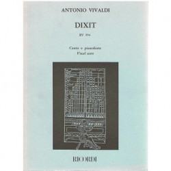 Vivaldi, Ant Dixit RV.594. Voz/Piano