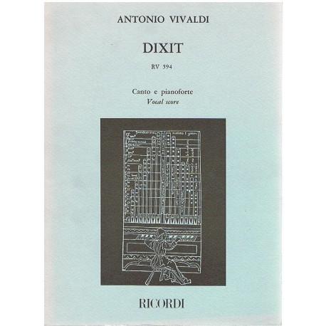 Vivaldi, Antonio. Dixit RV 594 (Voz/Piano). Ricordi