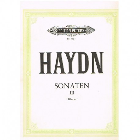 Haydn. Sonatas para Piano Vol.3. Peters