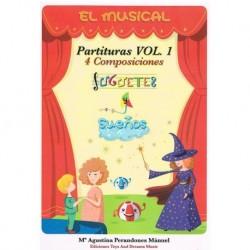 Perandones M El Musical. Juguetes y Sueños. Partituras Vol.1 (Varios Instrume
